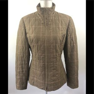 Carlisle Quilted Brown Pink Jacket Size 10